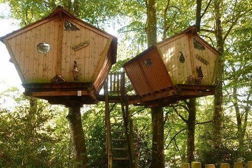 Cabanes perchées de Roc Aventure du camping du Domaine du Roc
